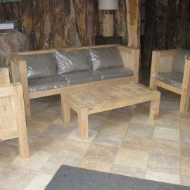 Massief eiken loungeset Roosendaal